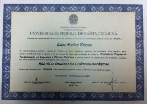 Diploma Eder Marlon Ramos